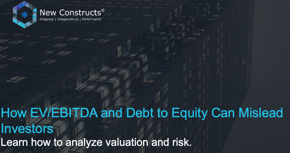 """Webinar: """"Issues with EV/EBITDA & How Debt to Equity Can Mislead Investors"""" – Hosted by TD Ameritrade"""